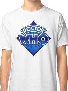 Doctor Who Diamond Logo Blue gradient. Classic T-Shirt