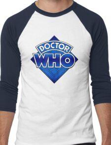 Doctor Who - Diamond Logo Blue gradient. Men's Baseball ¾ T-Shirt