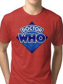 Doctor Who Diamond Logo Blue gradient. Tri-blend T-Shirt