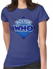 Doctor Who - Diamond Logo Blue gradient. Womens Fitted T-Shirt