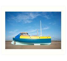 Colour boat Art Print