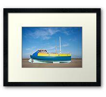 Colour boat Framed Print