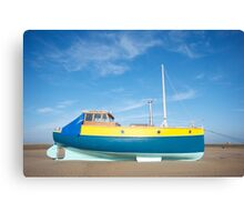 Colour boat Canvas Print