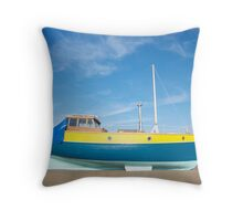 Colour boat Throw Pillow