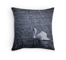 Behind the reed Throw Pillow