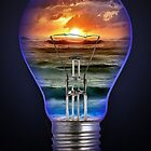 SEASCAPE ON A BULB, by E. Giupponi by Elizabeth Giupponi