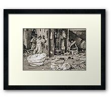 On Opposite Sides of a Wall Framed Print