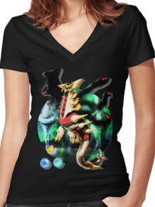 Giratina (Pokémon / By Cisou) Women's Fitted V-Neck T-Shirt