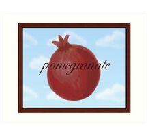 Surrealist Pomegranate Art Print