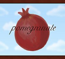 Surrealist Pomegranate by Sarah Countiss