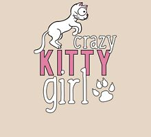 Crazy Kitty Girl T Shirt Womens Fitted T-Shirt