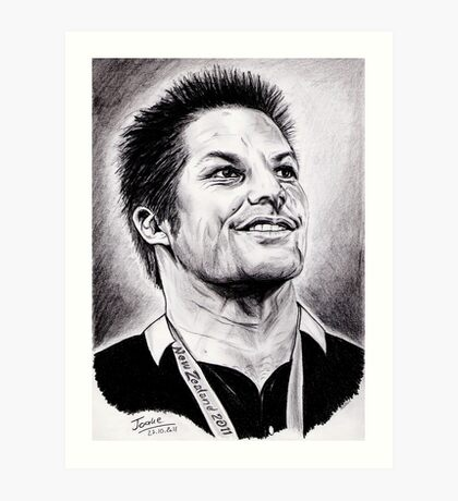 Richie McCaw - All Blacks Captain 2011 Art Print