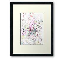 Dublin map splash painting Framed Print
