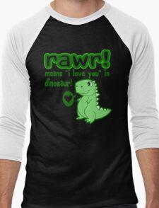 RAWR! Means I Love You In Dinosaur Men's Baseball ¾ T-Shirt