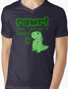 RAWR! Means I Love You In Dinosaur Mens V-Neck T-Shirt