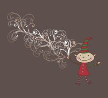 Magical Christmas Elf With White Swirls Baby Tee
