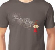 Magical Christmas Elf With White Swirls Unisex T-Shirt