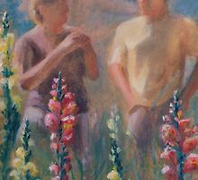 They Discussed It Over Snap Dragons by Colleen Reynolds