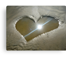 Heart Shaped Sand Canvas Print