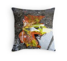 Summer washes away Throw Pillow