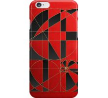 The Alchemy - Divine Proportions - Black on Red iPhone Case/Skin