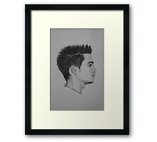Dylan Sprayberry Drawing / Teen Wolf, Liam Dunbar. Framed Print