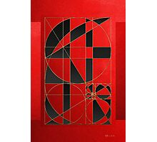 The Alchemy - Divine Proportions - Black on Red Photographic Print