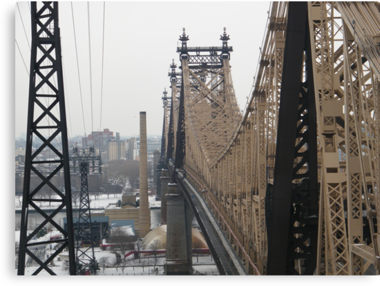 Queensboro Bridge, As Seen from Roosevelt Island Tram, New York by lenspiro