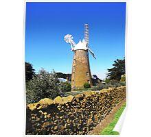 Callington Mill and Stone Wall, Oatlands in Tasmania Poster