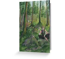 I know all the secrets of the forest Greeting Card