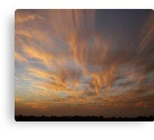 Brush Stroke Sunset 2 Canvas Print