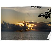 Sunset on the Atoll - Cocos (Keeling) Islands Poster