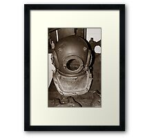 Pearl Diver Helmet Framed Print