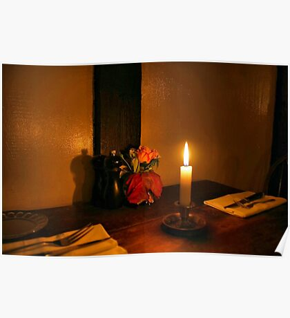 Dinner by Candlelight Poster