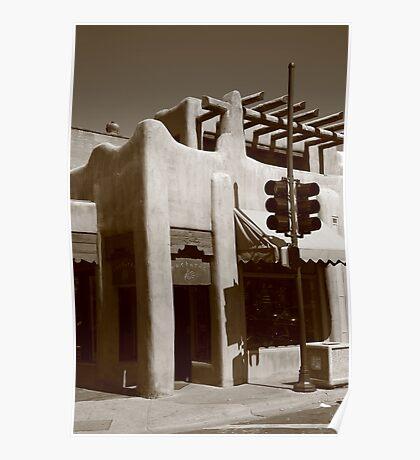Santa Fe Adobe Shop Poster