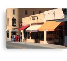Santa Fe Shops Canvas Print