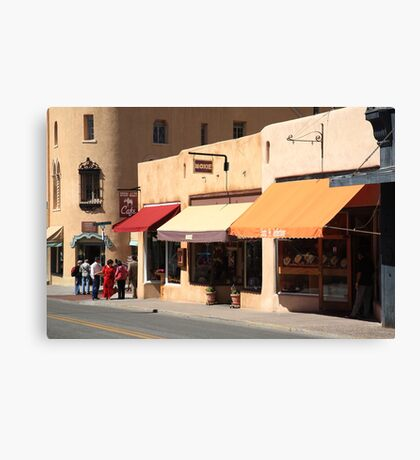 Santa Fe Shops Canvas Print