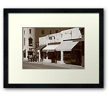Santa Fe Shops Framed Print