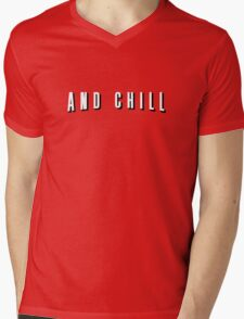 Netflix and Chill – Parody, Meme Mens V-Neck T-Shirt