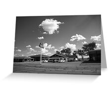 Route 66 - MidPoint Cafe, Adrian Texas Greeting Card