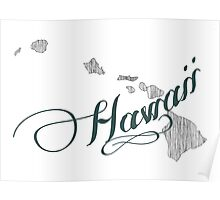 Hawaii State Typography Poster