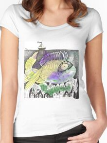 Underwater Town Women's Fitted Scoop T-Shirt