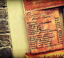 Menu by Caroline Fournier