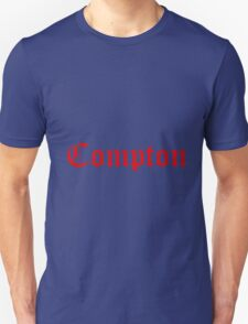 Compton Red Text T-Shirt