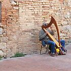 The Harpist Of San Gimignano by Fara
