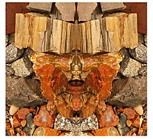The rock man cometh Photographic Print
