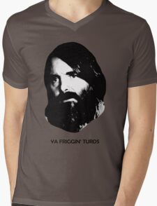 YA FRIGGIN' TURDS Last Man On Earth Phil Miller Mens V-Neck T-Shirt