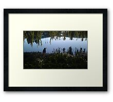 Heron on the Nike Campus Framed Print