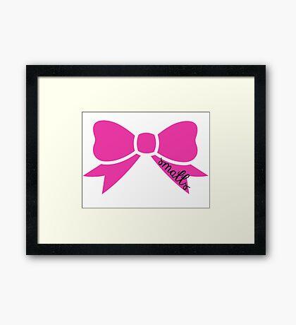 Smalls Bow Framed Print