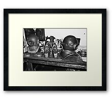 Pearl Diver Suit Gear Framed Print